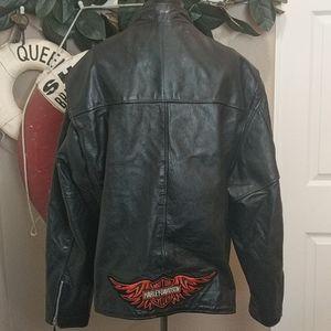 Classic Leather Biker JKT w/ Harley Davidson Logo